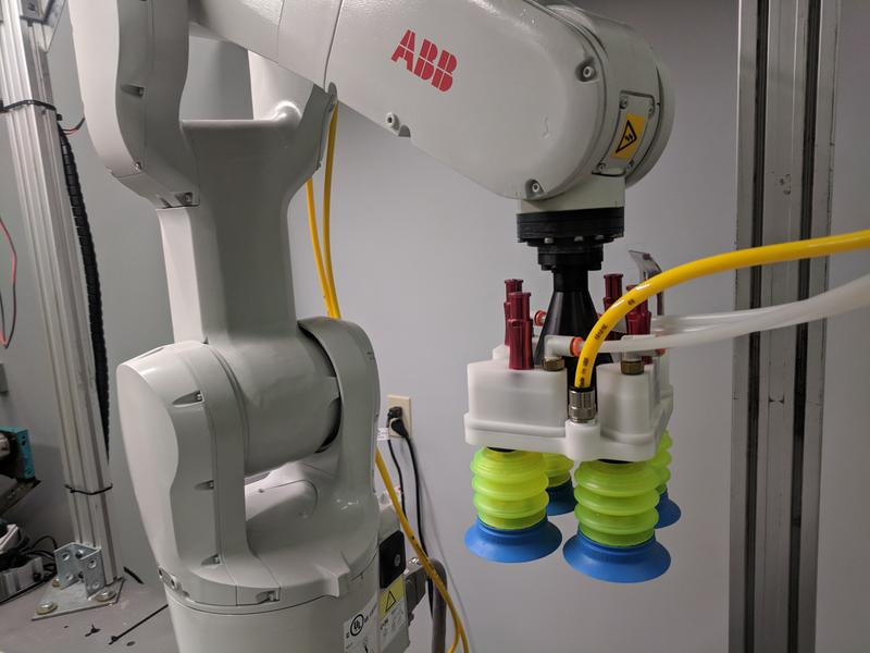 Plus One Robotics connects industrial control arms with off-the-shelf gripping technology and cameras and runs it through their software.