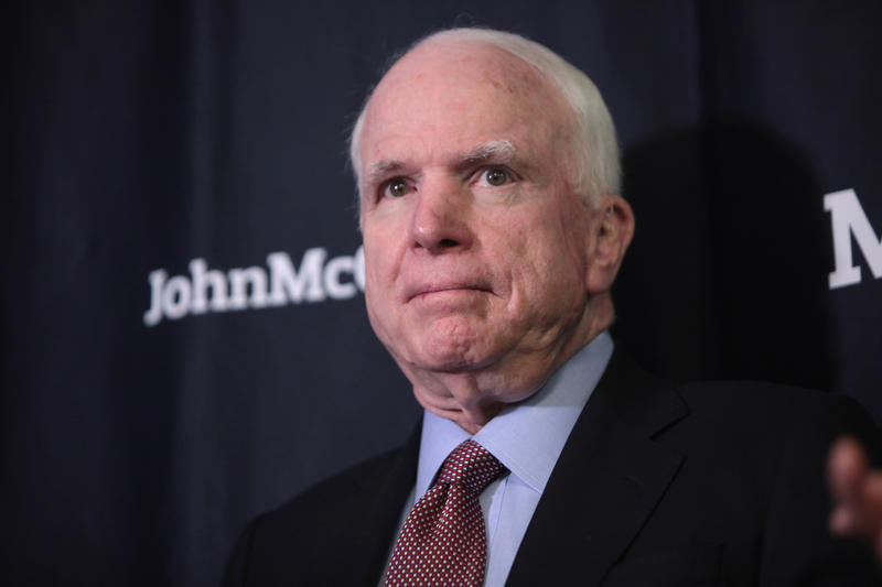 McCain died Aug, 25, 2018