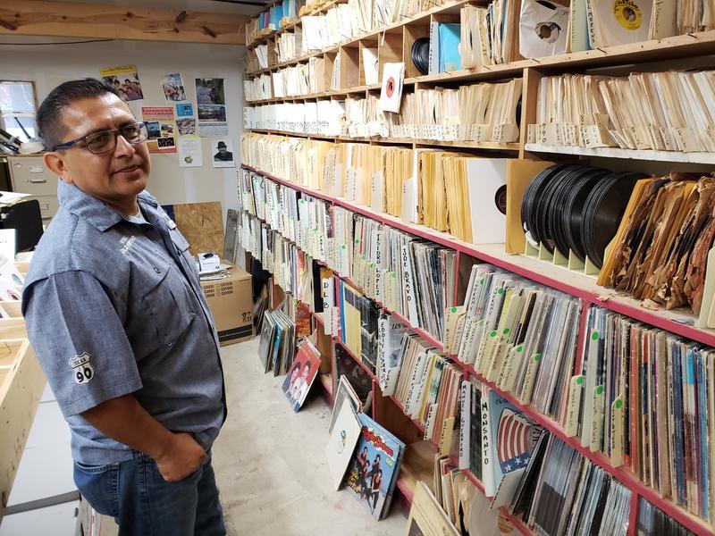 Javier Gutierrez, part owner of Del Bravo Records Aug. 21, 2018