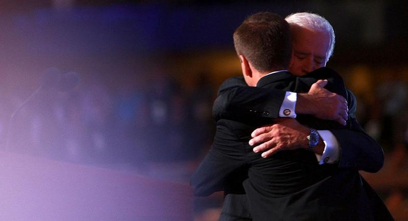 Beau and Joe Biden on August 27, 2008.