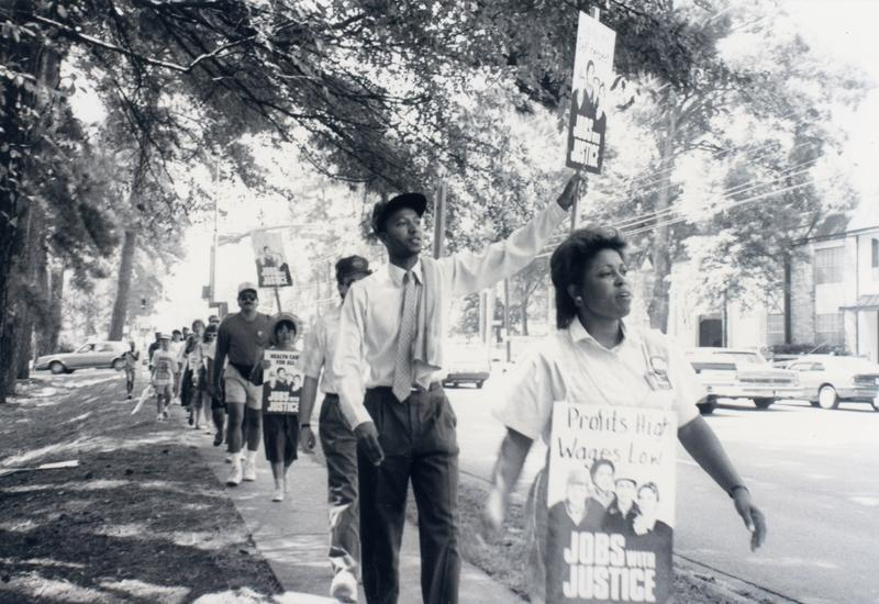 1987 Jobs with Justice March, Nacogdoches TX