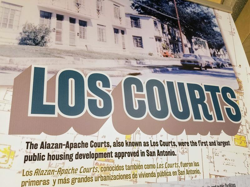One of the panels featured in the exhibit 'Los Courts.'