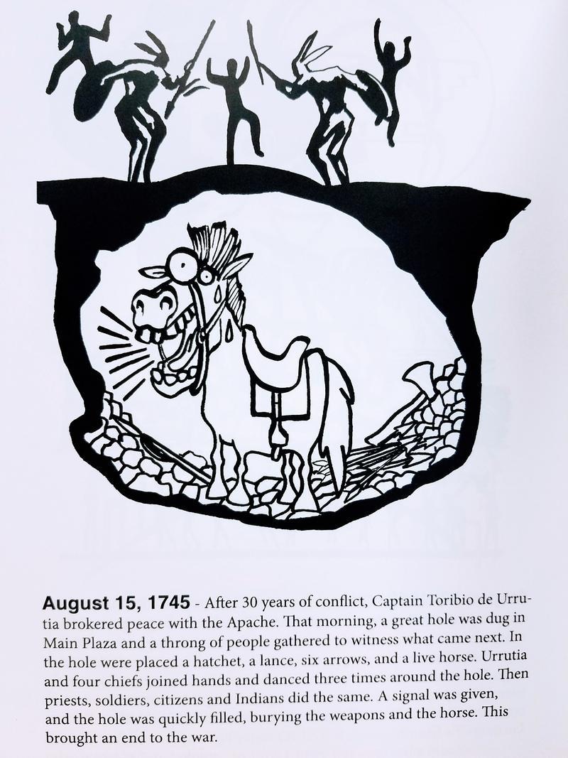 Image from San Antonio: Secret History by David Martin Davies, illustrated by Hector Garza