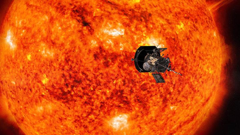 Artist rendition of Parker Solar Probe approaching sun