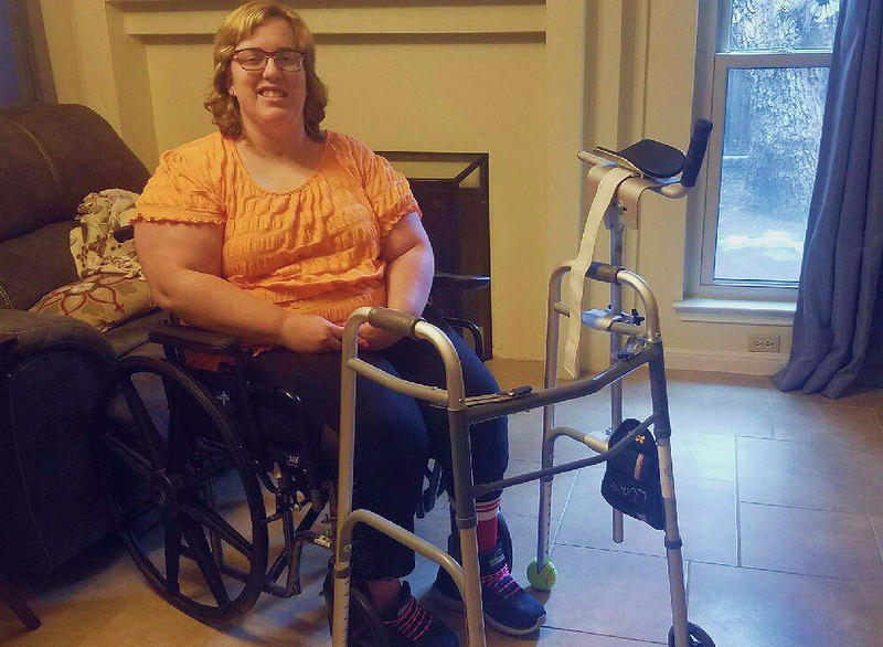 Whitney Hardin, 24, is a San Antonio-based Navy veteran who has faced delays in getting a specialized walker from the Department of Veterans Affairs.