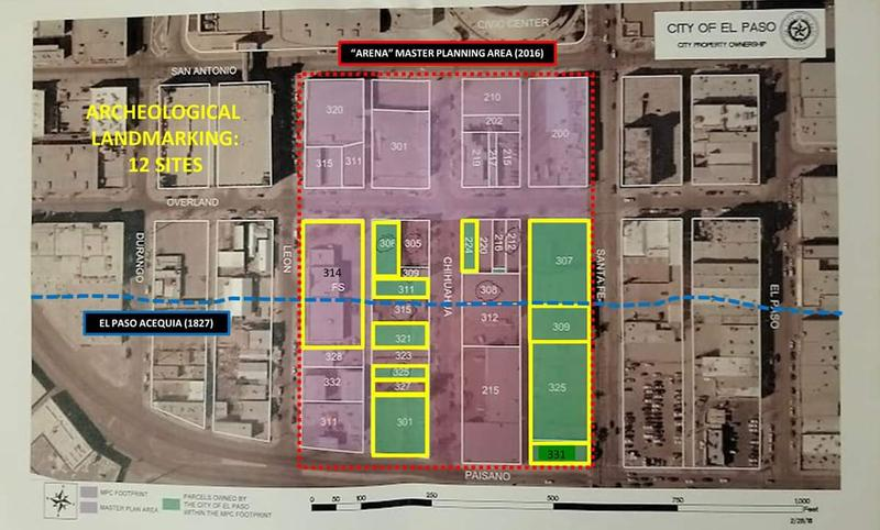 Map of proposed arena footprint and master plan, showing area to be demolished.