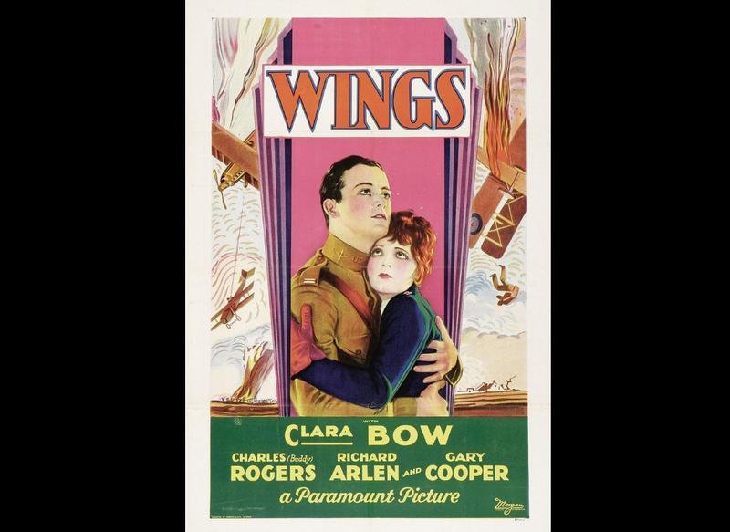 """""""Wings"""" (1927) film poster"""