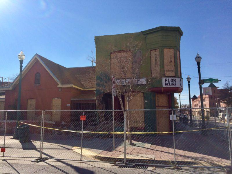 Bull dozers began demolishing a building in El Paso's Barrio Druangutio on September 12, 2017, despite a court order denying the demolition permits the previous day.