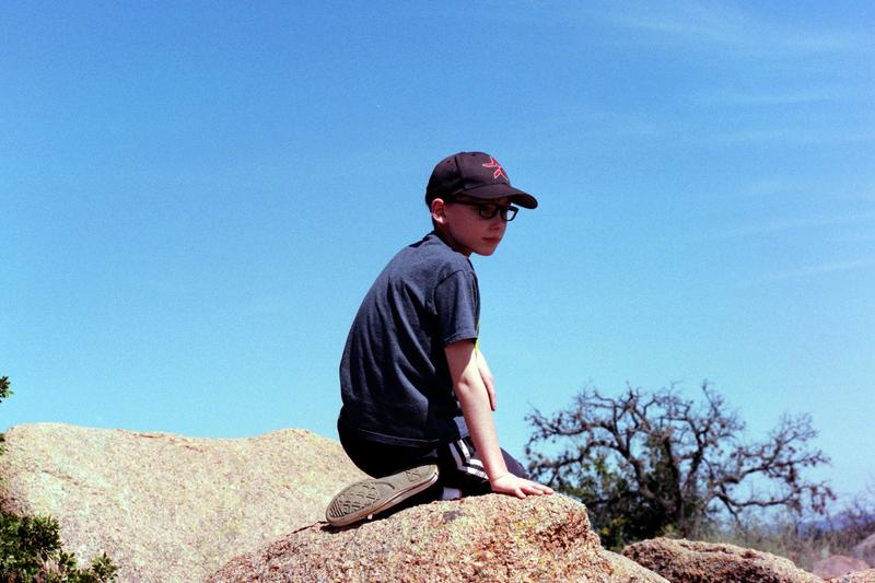 On Enchanted Rock, March, 2018. Shot on 35mm.