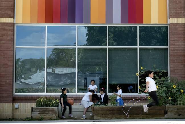 Students playing at SAISD's Bonham Academy