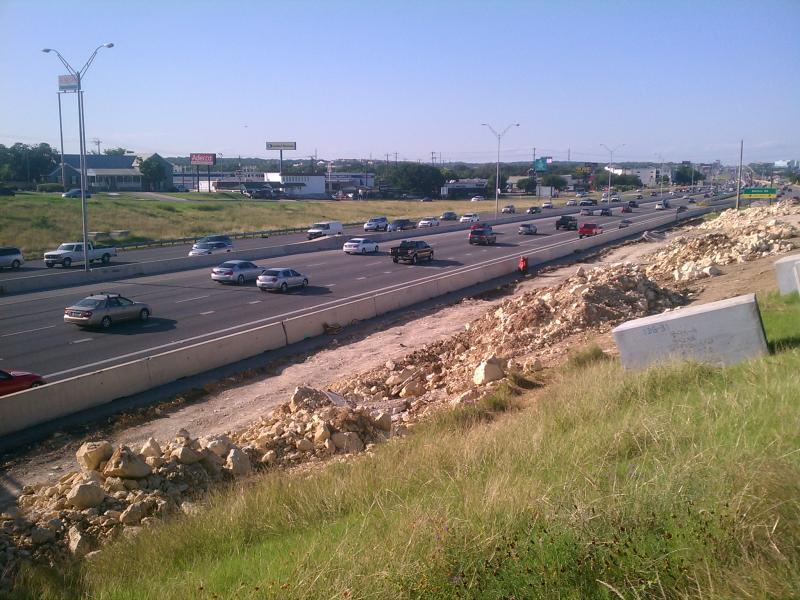 Northbound traffic on Hwy. 281 at Nakoma.