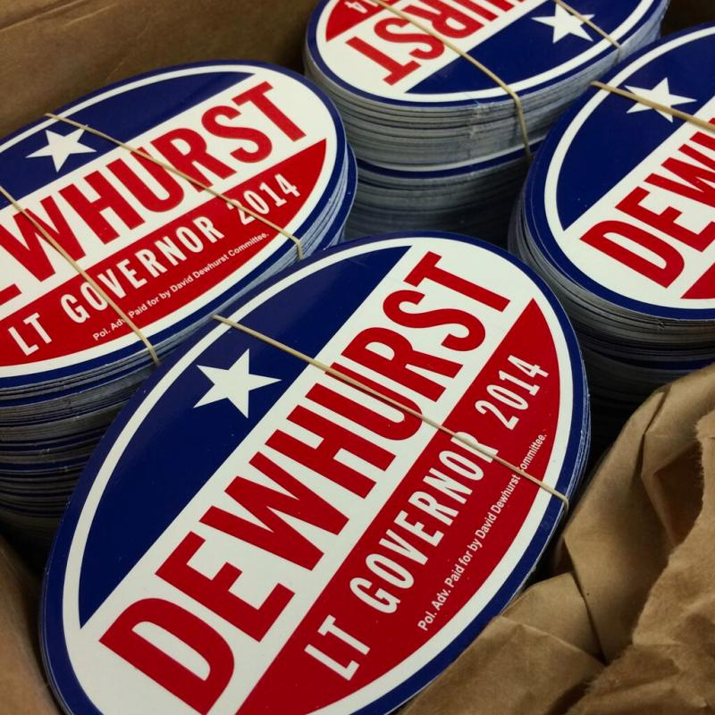 Dewhurst is pushing his conservative credentials after losing the U.S. Senate race in 2012 to Ted Cruz, a tea party conservative.