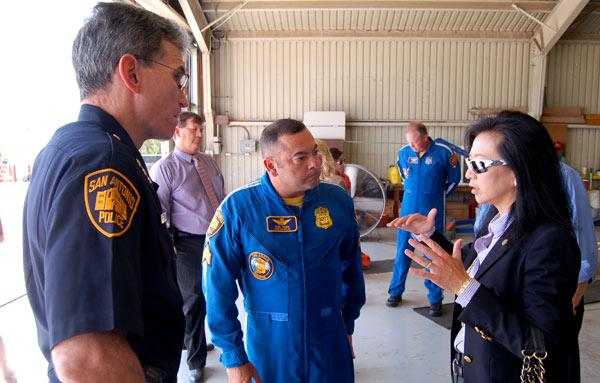 Councilwoman Chan at Stinson Airfield