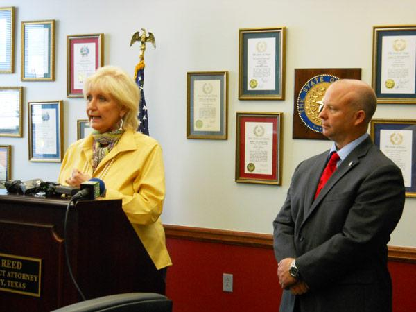 Bexar County District Attorney Susan Reed and County Commissioner Kevin Wolff
