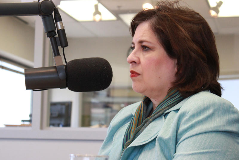 Democratic candidate for lieutenant governor Leticia Van De Putte in the TPR studios shortly after the filibuster of the controversial abortion bill this summer that launched Wendy Davis to fame.