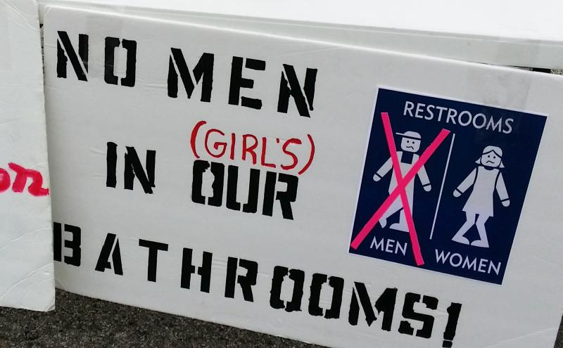 Opponents to the city's NDO protested that the law would allow transgender people into restrooms of the sex they identify with, causing harm to others.
