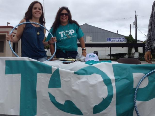 Members of the Texas Organizing Project took advantage of the big crowds at Síclovía in September to promote the ACA.