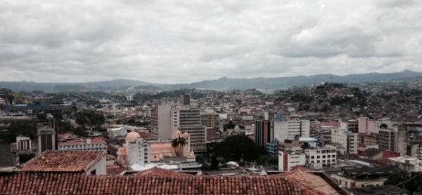 A rooftop view of Tegucigalpa, Honduras.