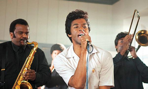 "Chadwick Boseman brings the funk as James Brown in ""Get On Up."""