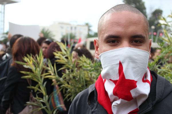 Protesters in Tunisia 2011, the first of the Arab Spring nations protests
