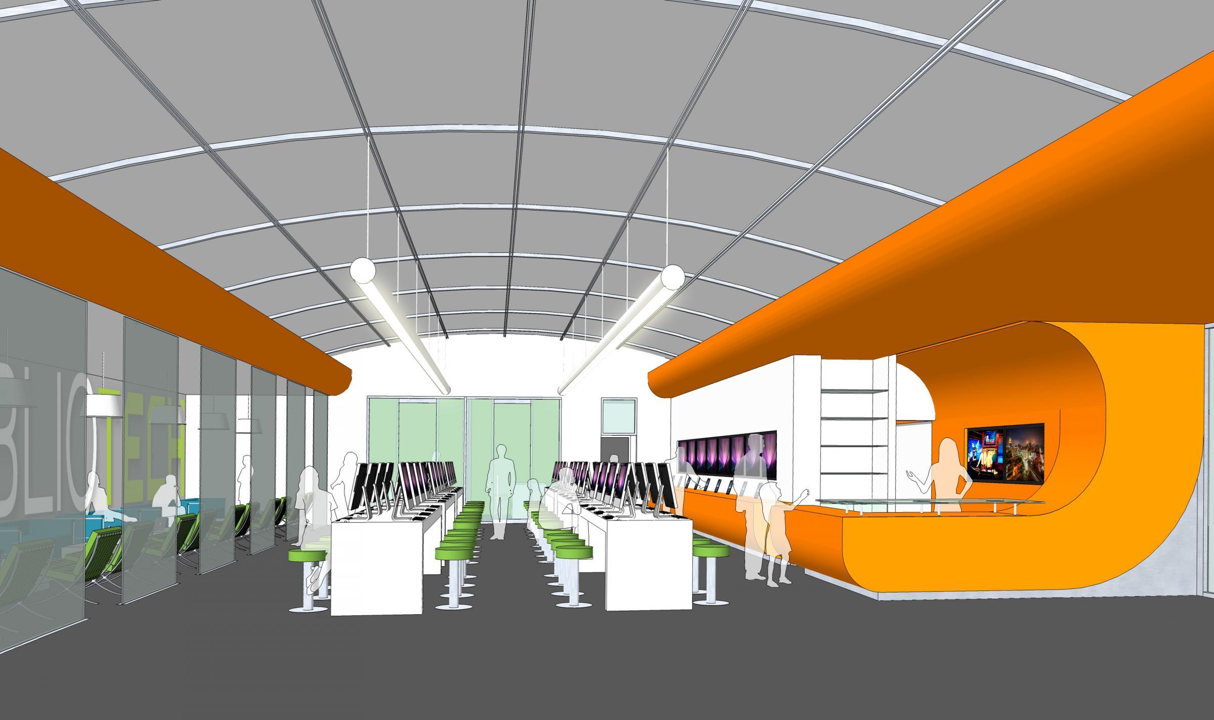Concept Interior Design Of BiblioTech
