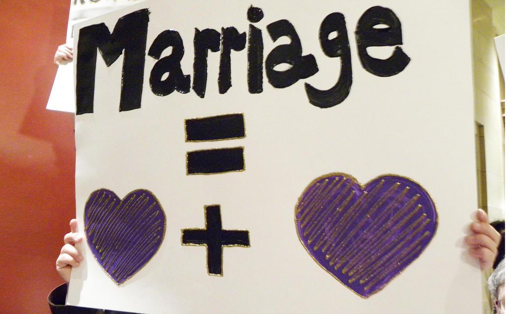 Anti heterosexual marriage symbols