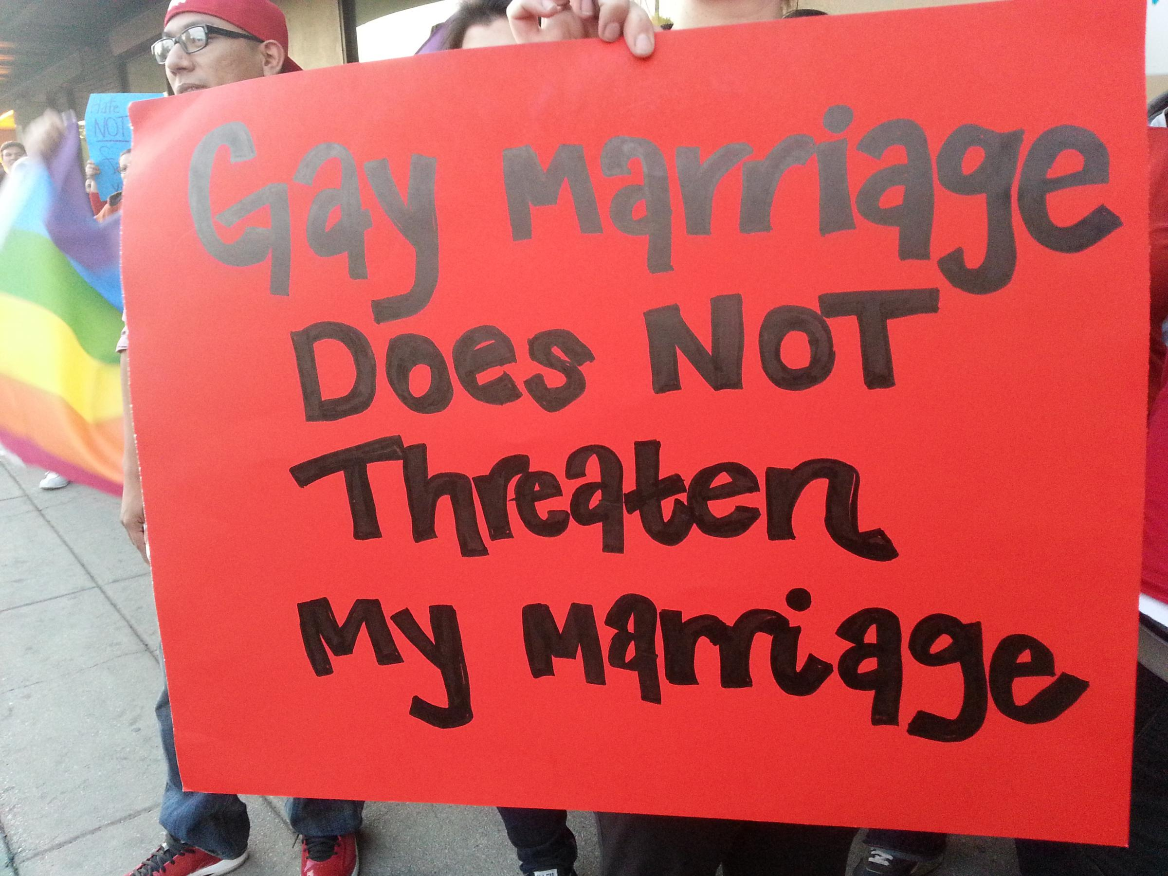 from Colten supporters for gay marriage
