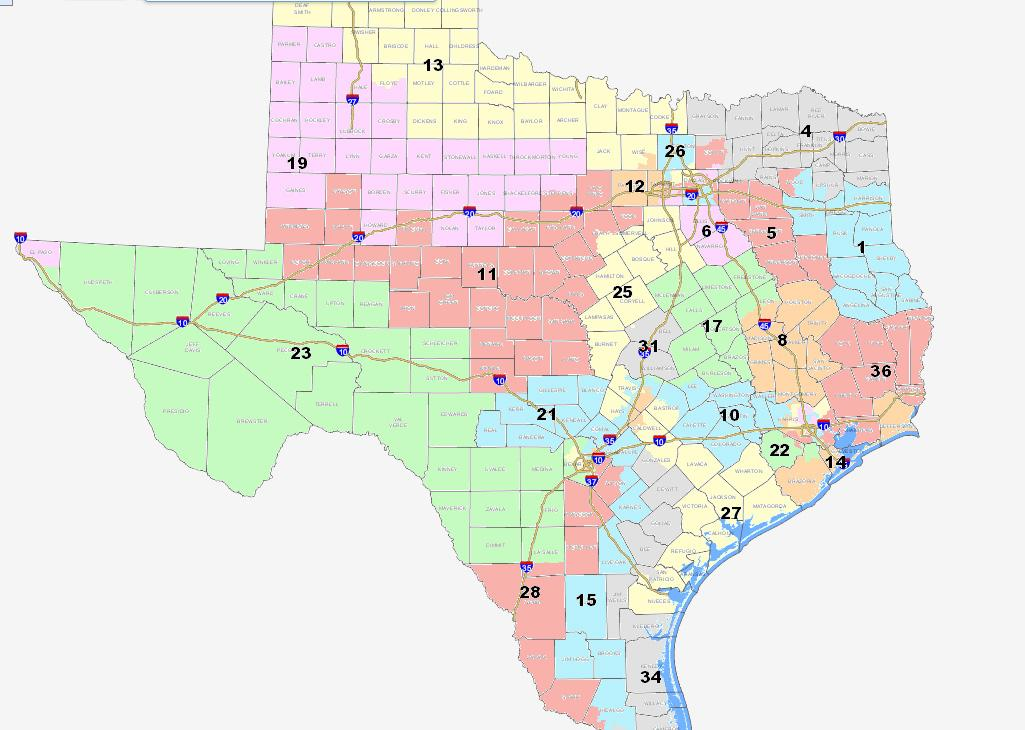 Court Ordered Interim U S Congressional Districts For The 2012 Election