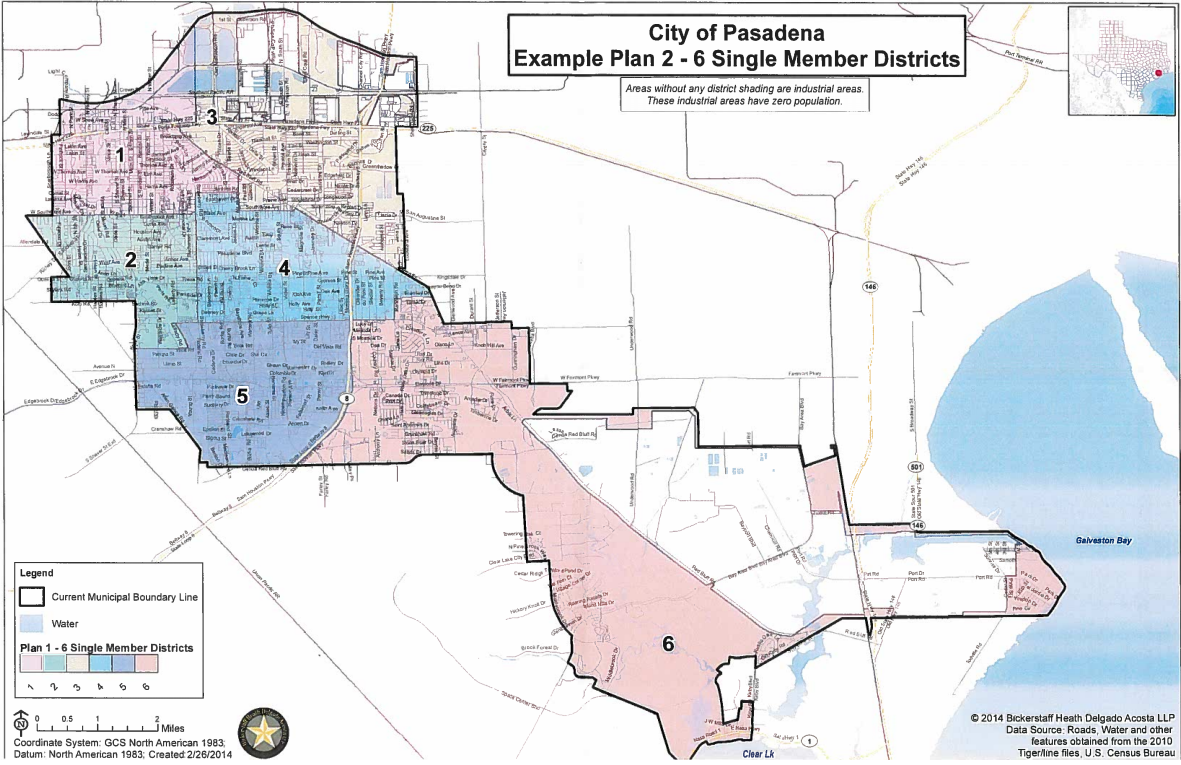 Map Of Texas District 6.Pasadena Sued Over Latino Voting Rights Texas Public Radio