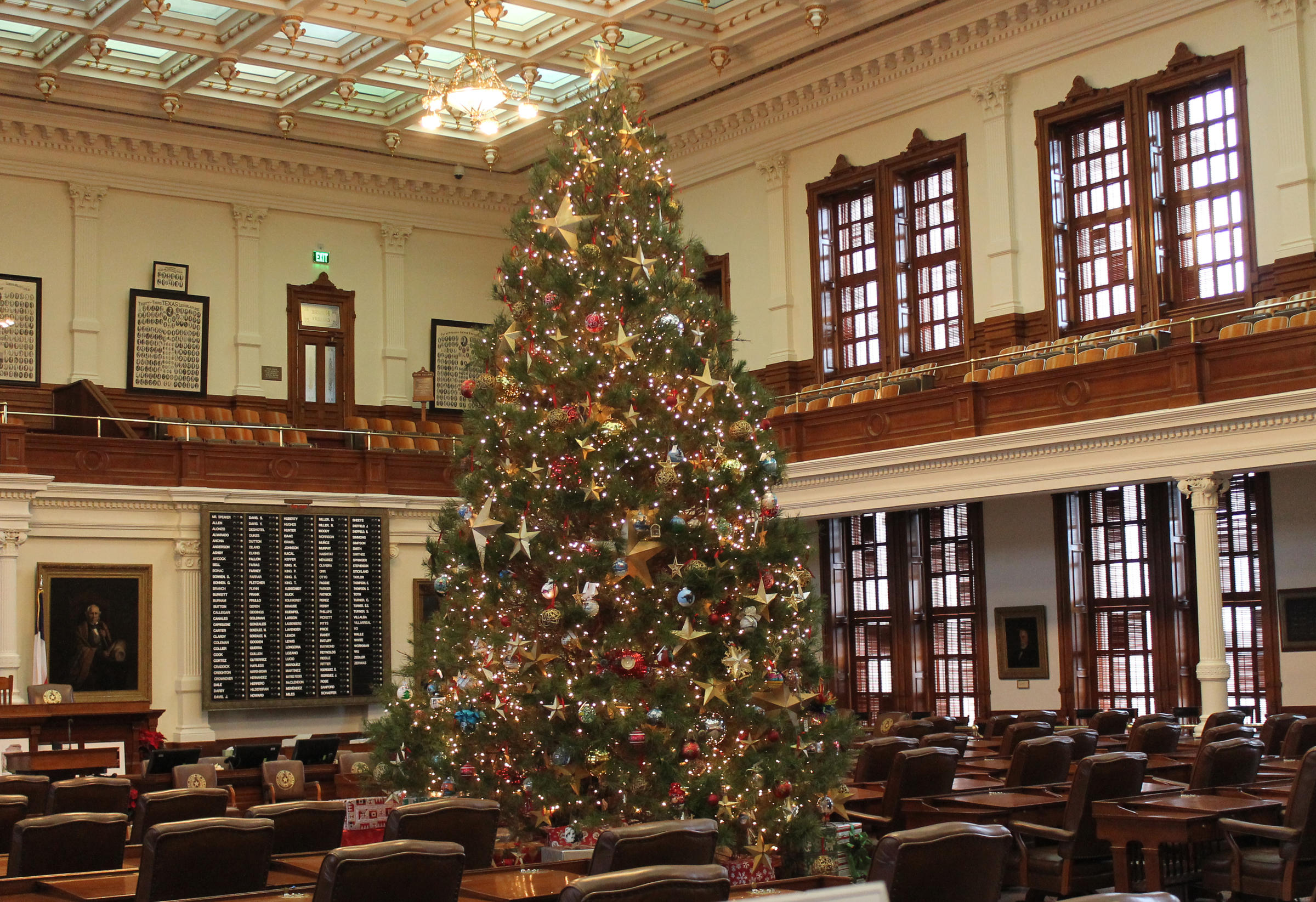 Christmas Tree In The Texas House
