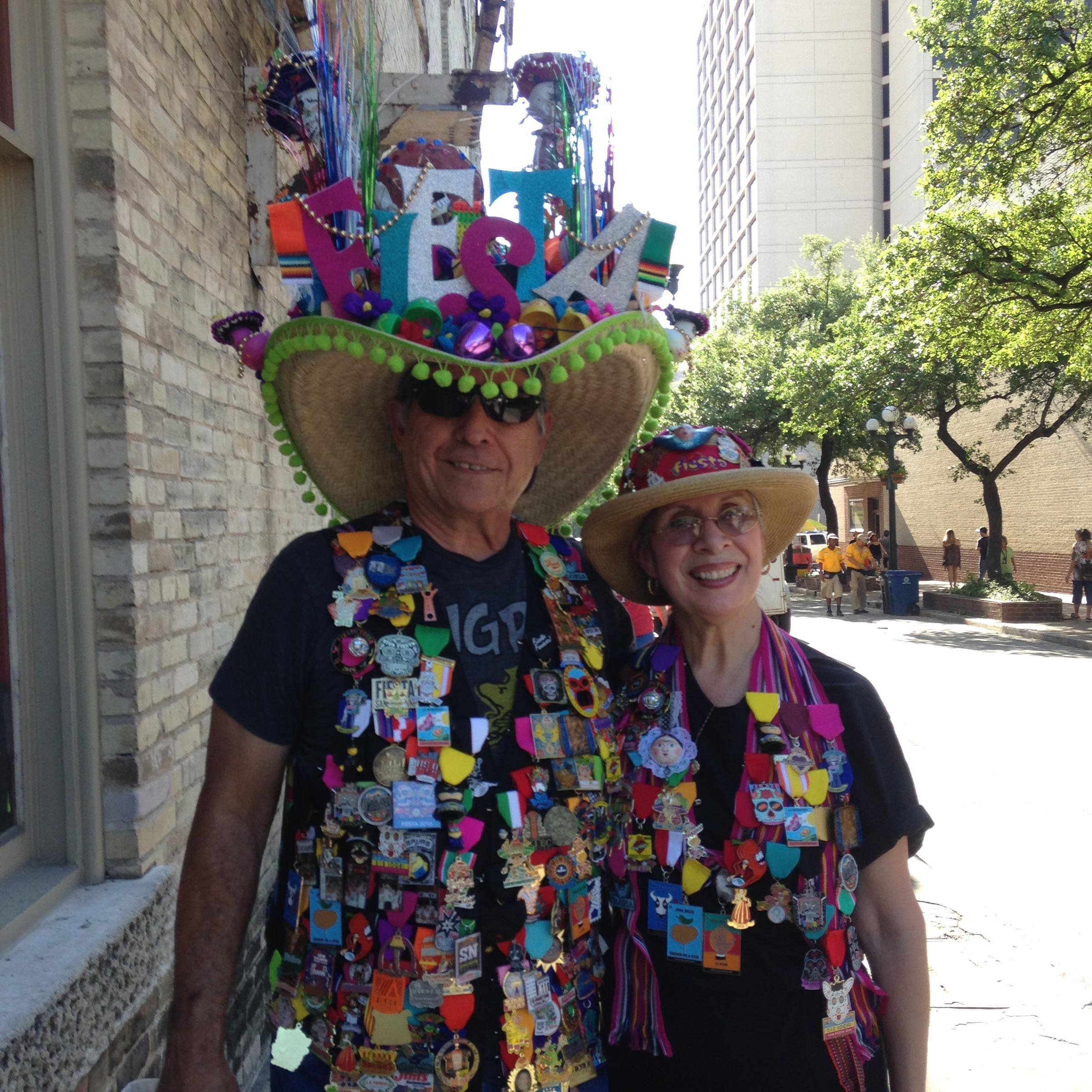 Julius And Rachel Gonzalez Take Part On Thursday Evening S Fiesta Kicking Off The 11 Day Annual Event