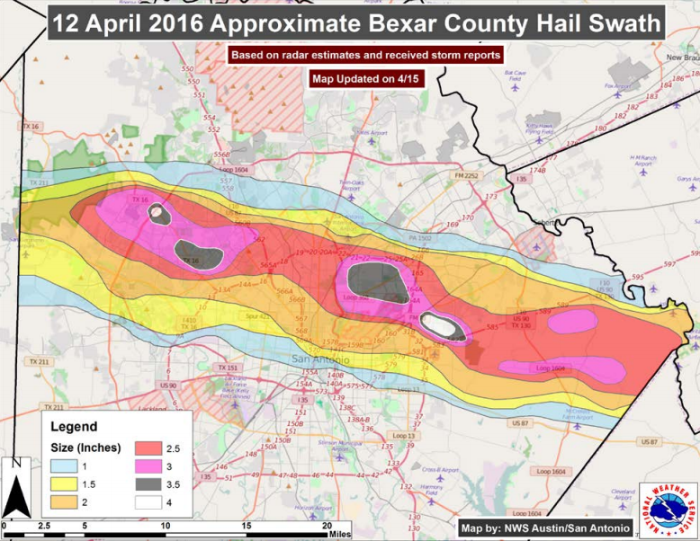 Map Of Texas Storms.San Antonio Hail Storm Ranked Costliest In Texas History Texas