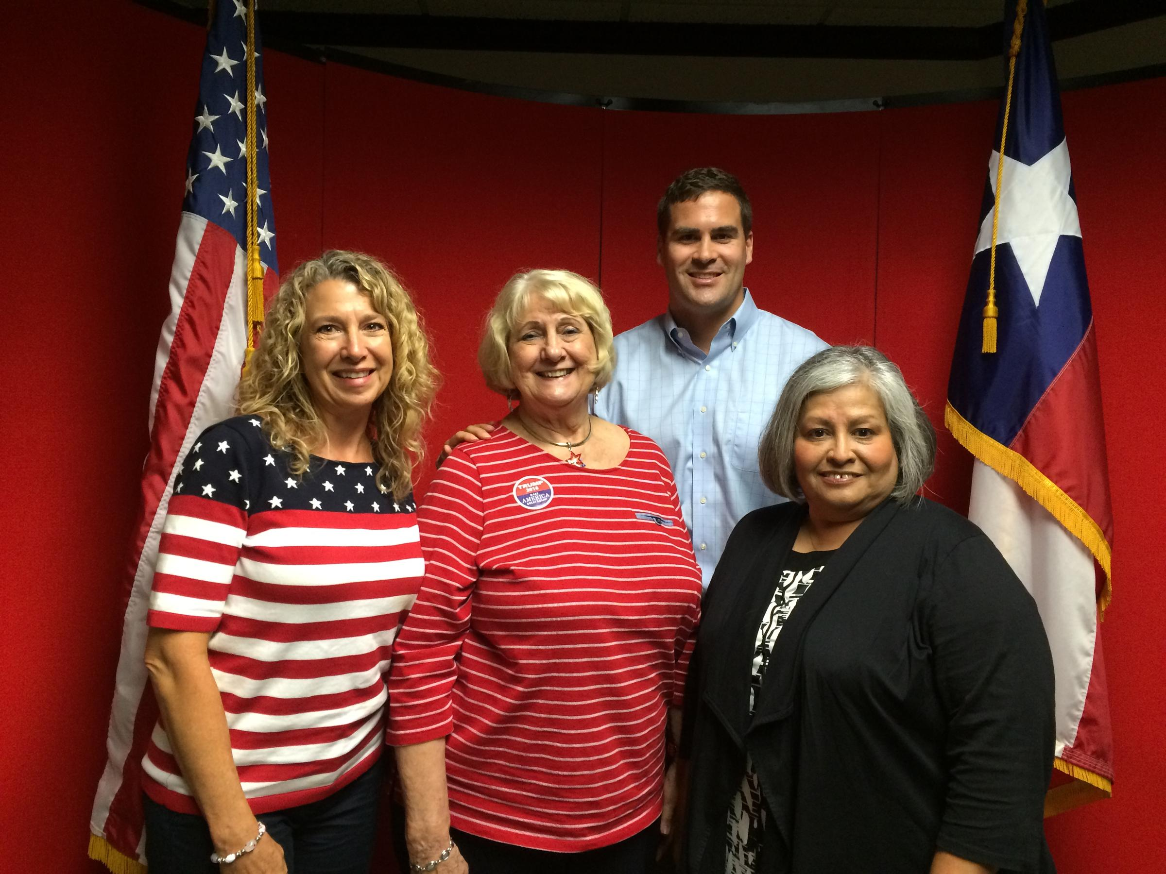 Bexar County GOP delegates to the national convention Lisa Nilsson Ginny Shannon Grant Moody Gina Castaneda