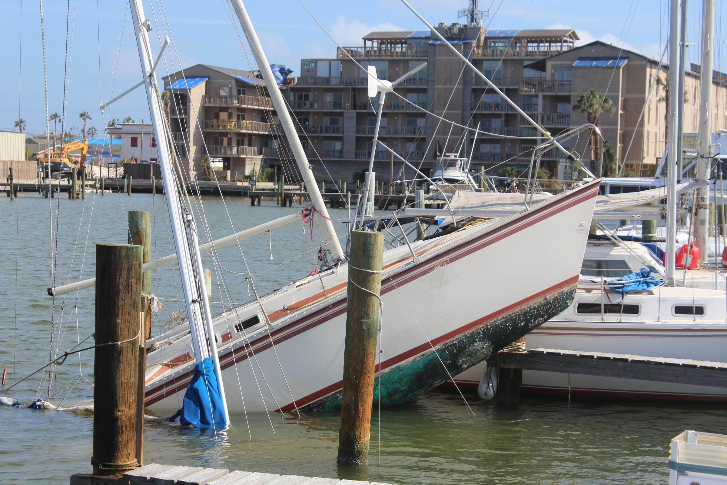Rebuilding After Harvey A Damaged Marina Becomes Donation Super
