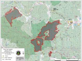 West Fork Fire Complex Burn Area Map, June 25, 2013