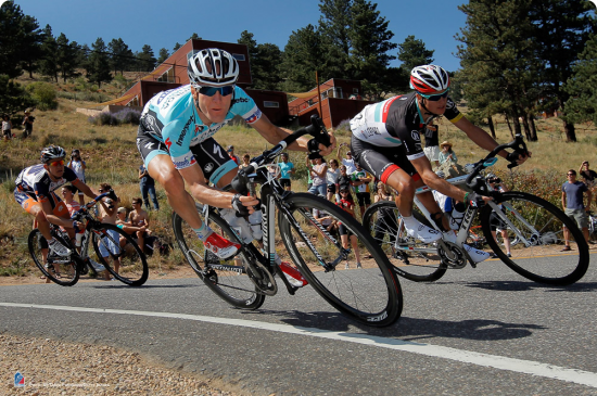 Levi Leipheimer makes his move on Flagstaff Mountain to take the overall lead of the USA Pro Cycling Challenge