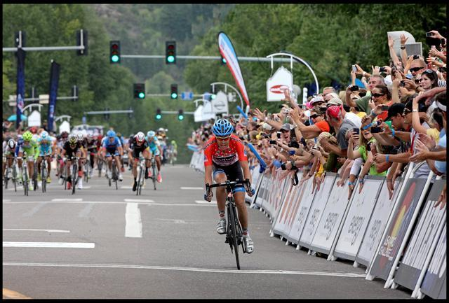 Tom Danielson holds off the pack as he wins Stage 3 of the Pro Challenge in Aspen, CO