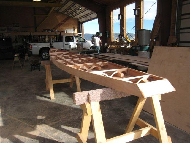 Paddle board under construction.