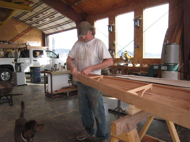 Hand crafted by the timber frame artisans at San Juan Timberwrights.