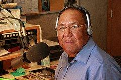 "Volunteer Host Ray C. Frost visited the station every Wed afternoon for 8 years to produce ""Perspectives"" ...THANK YOU for your contribution to Tribal Radio Mr. Frost!!"