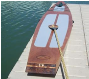 Custom handmade stand up paddle board from San Juan Timberwrights.