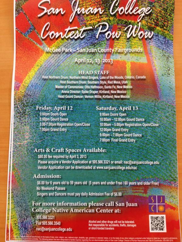 2013 San Juan College Powwow April 12 & 13, 2013
