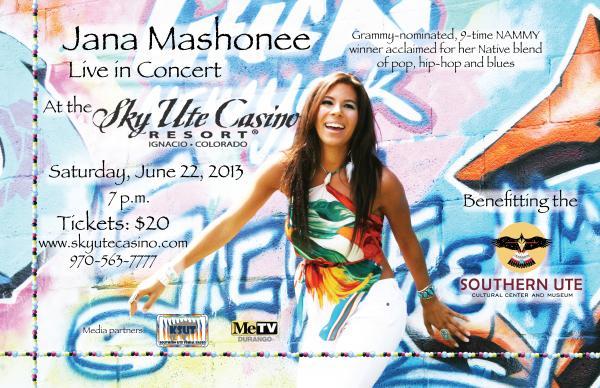 Jana Mashonee Live in Concert Saturday, June 22
