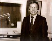 Sam Donaldson in the KTEP studios in the mid 1970s