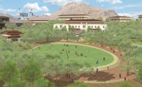A new Centennial Plaza will transform the heart of UTEP's campus into a public space, perfectly suited for strolling, socializing, or studying