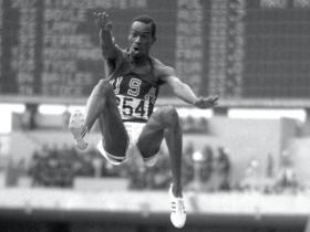 Bob Beamon at the 1968 Mexico City Olympics