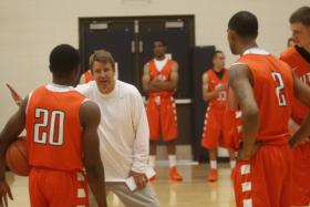 Coach Tim Floyd on the first day of practice
