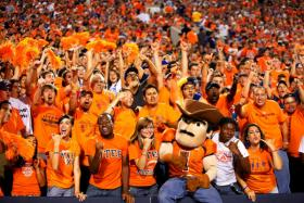 Fans at a UTEP football game