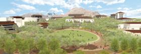 Artistic rendering of the Centennial Plaza