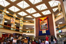 Atrium of the UTEP Library